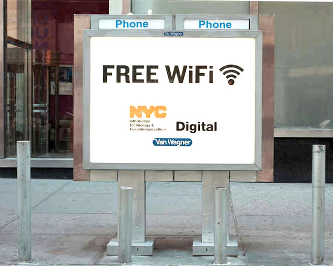 providing free wi fi to new york