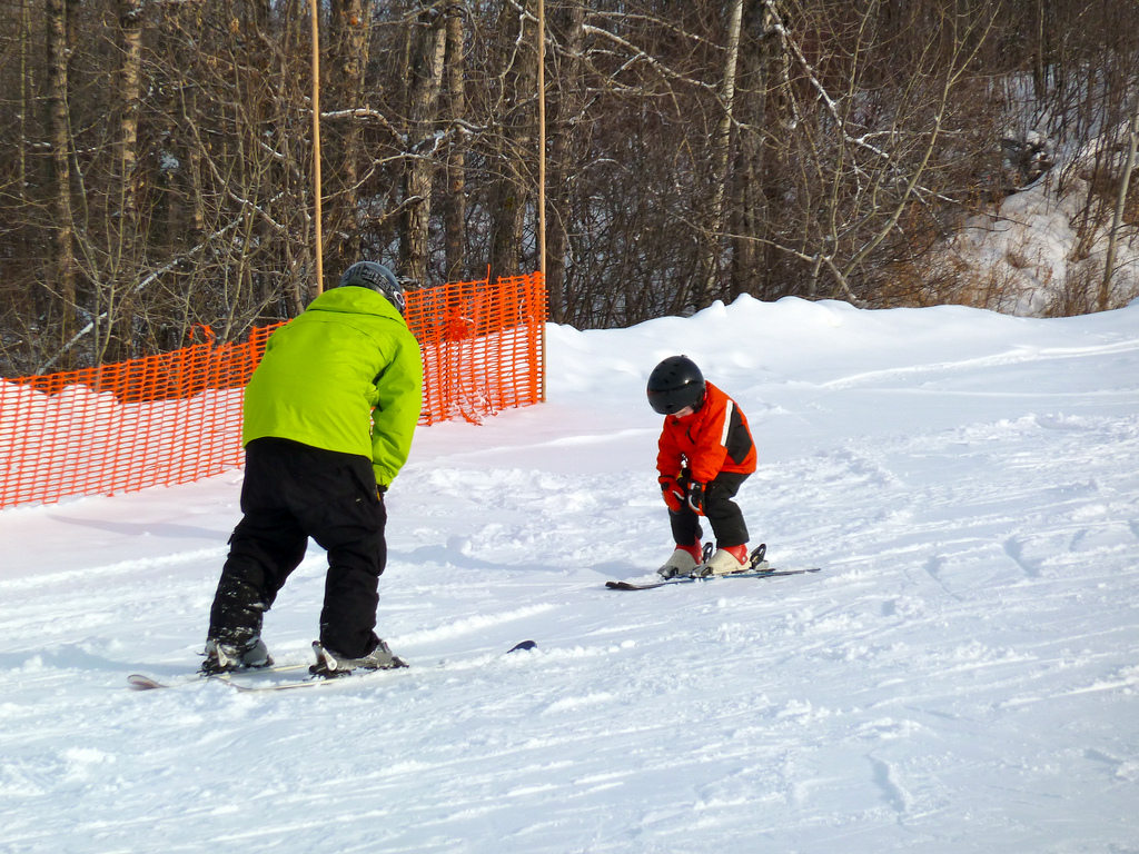 Kids ski lessons are lots of fun for mini skiers