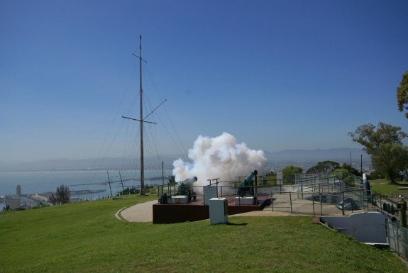 Firing at Signal Hill's Noon Gun