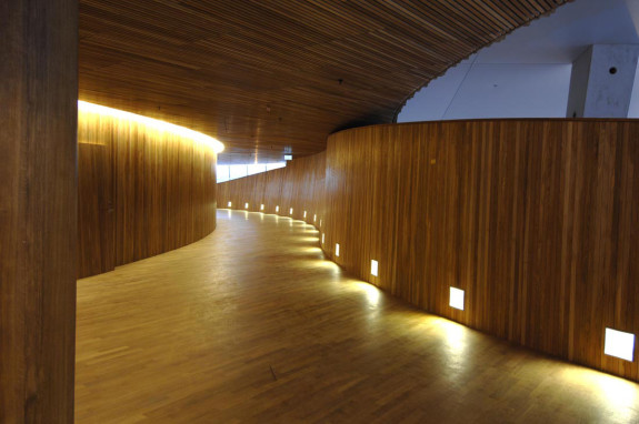 Inside opera house oslo