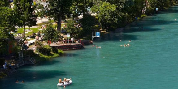 Aare River swim