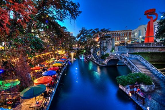 The Riverwalk san antonio